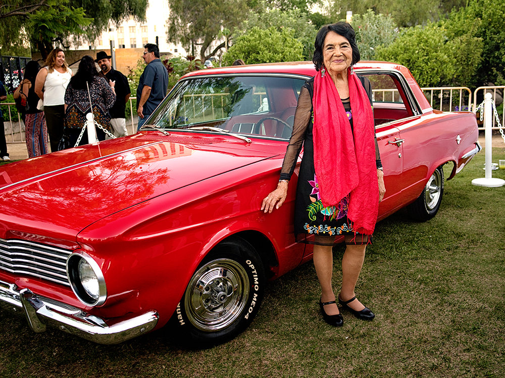 Dolores Huerta and 1964 Plymouth Valiant
