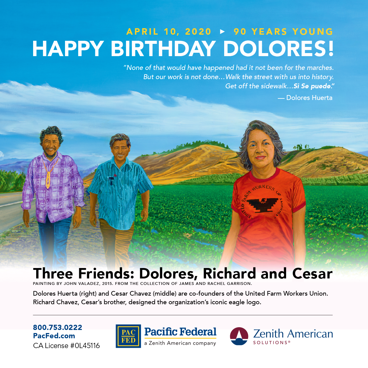PacFed_Dolores-90th-Birthday_Ad_at_Airport